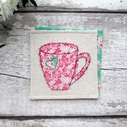 Fabric Mug Coaster, Gift For A Tea ..