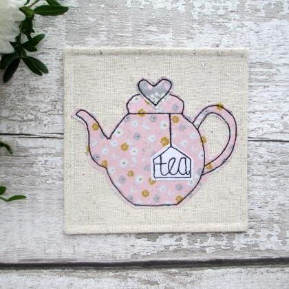 Teapot Coaster, Tea For One Gift Id..
