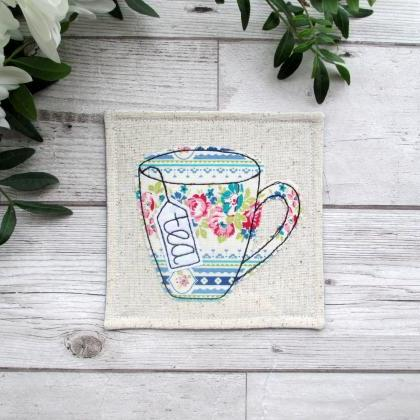 Fabric Tea Coaster, Retirement Gift