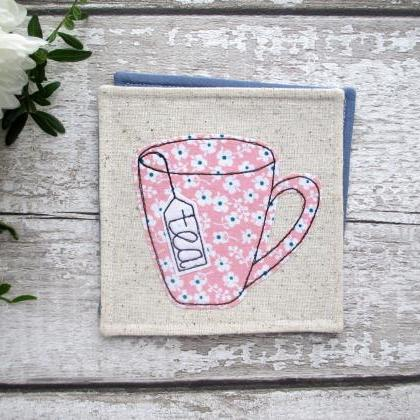 Fabric Tea Coaster, Birthday Gift F..