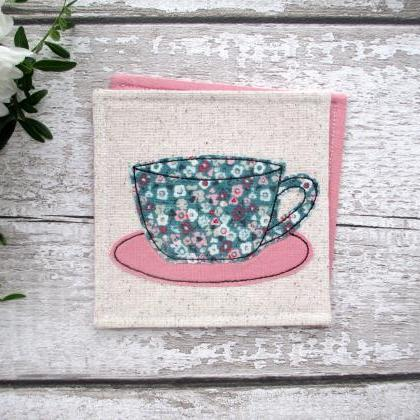 Floral Coaster, Gift For A Tea Or C..