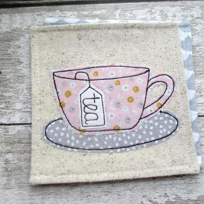 Pink Tea Coaster, Gift For A Tea Lo..