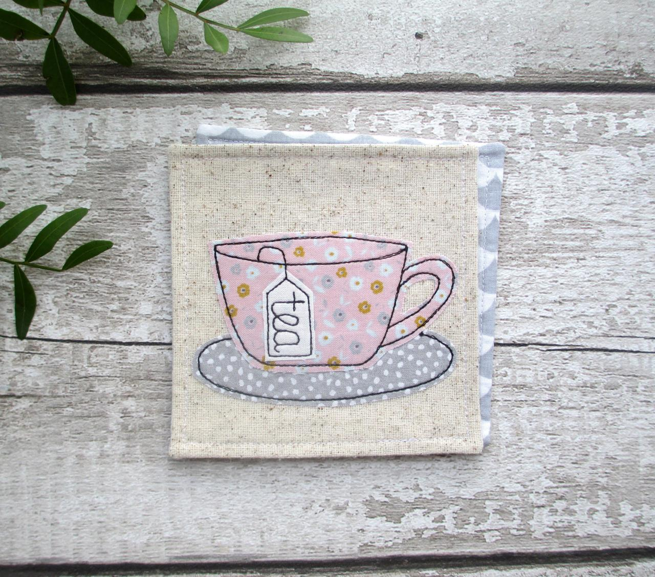 Pink Tea Coaster, Gift For A Tea Lover