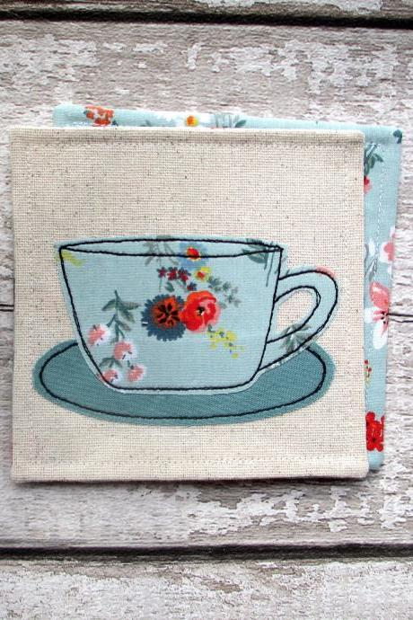 Floral Coaster, Gift For A Tea Or Coffee Lover