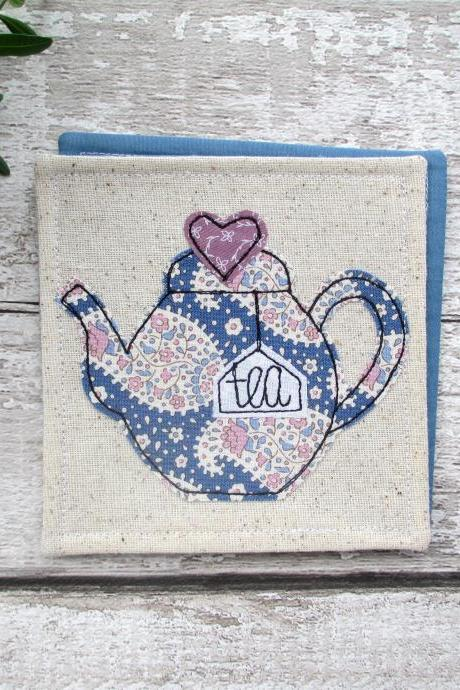 Fabric Teapot Coaster, Tea For One Gift Idea