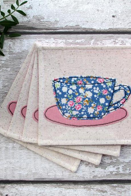 Fabric Coaster Set, New Home Gift