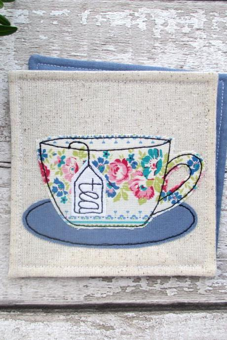 Tea Coaster, Retirement Gift For A Tea Lover