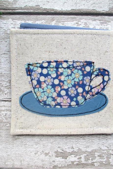 Fabric Coaster, Coffee Lover Gift