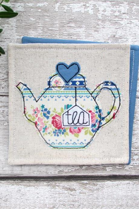 Teapot Coaster, Tea For One Gift Idea, Retirement Gift