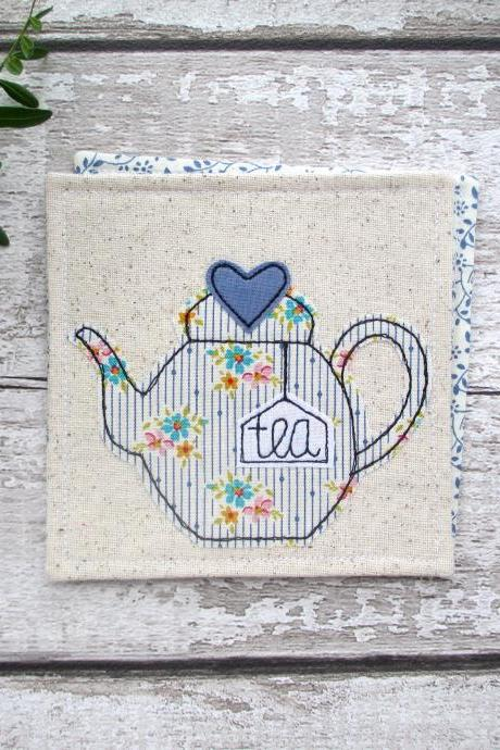 Fabric Coaster, Tea For One Gift, Retirement Gift