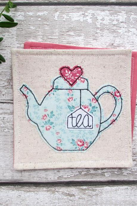 Teapot Coaster, Gift Idea For A Tea Lover