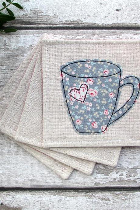 Coaster Set, New Home Gift For A Tea Or Coffee Lover