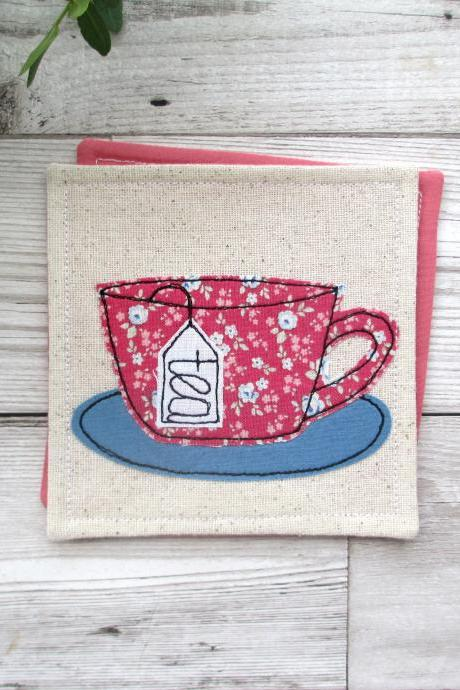 Tea Cup Coaster, Retirement Gift For A Tea Lover