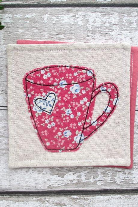 Mug Coaster, Small Gift Idea For A Tea Or Coffee Lover
