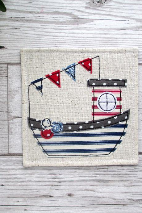 Nautical Coaster, Housewarming Gift For A Nautical Home
