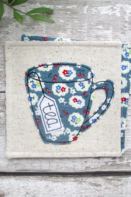 Fabric Coaster, Gift For A Tea Lover, New Home Gift